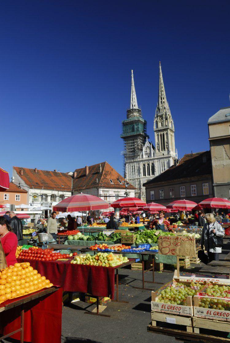 Dolac Market in Zagreb, Croatia Zagreb croatia, Coffee