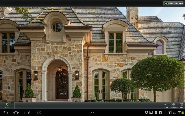 Provence Eyebrow Dormers Slate Roof Stone Exterior