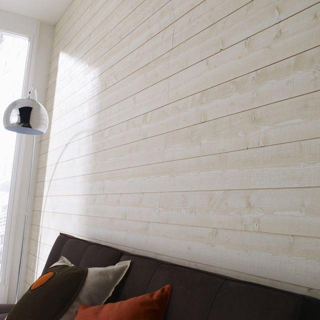 mur de chambre recouvert de lambris bois pose a l horizontal