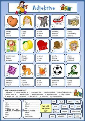 Wortschatzerweiterung. Drei Aufgaben:- Multiple choice- Satzergänzung- Gegenteile finden - DaF Arbeitsblätter