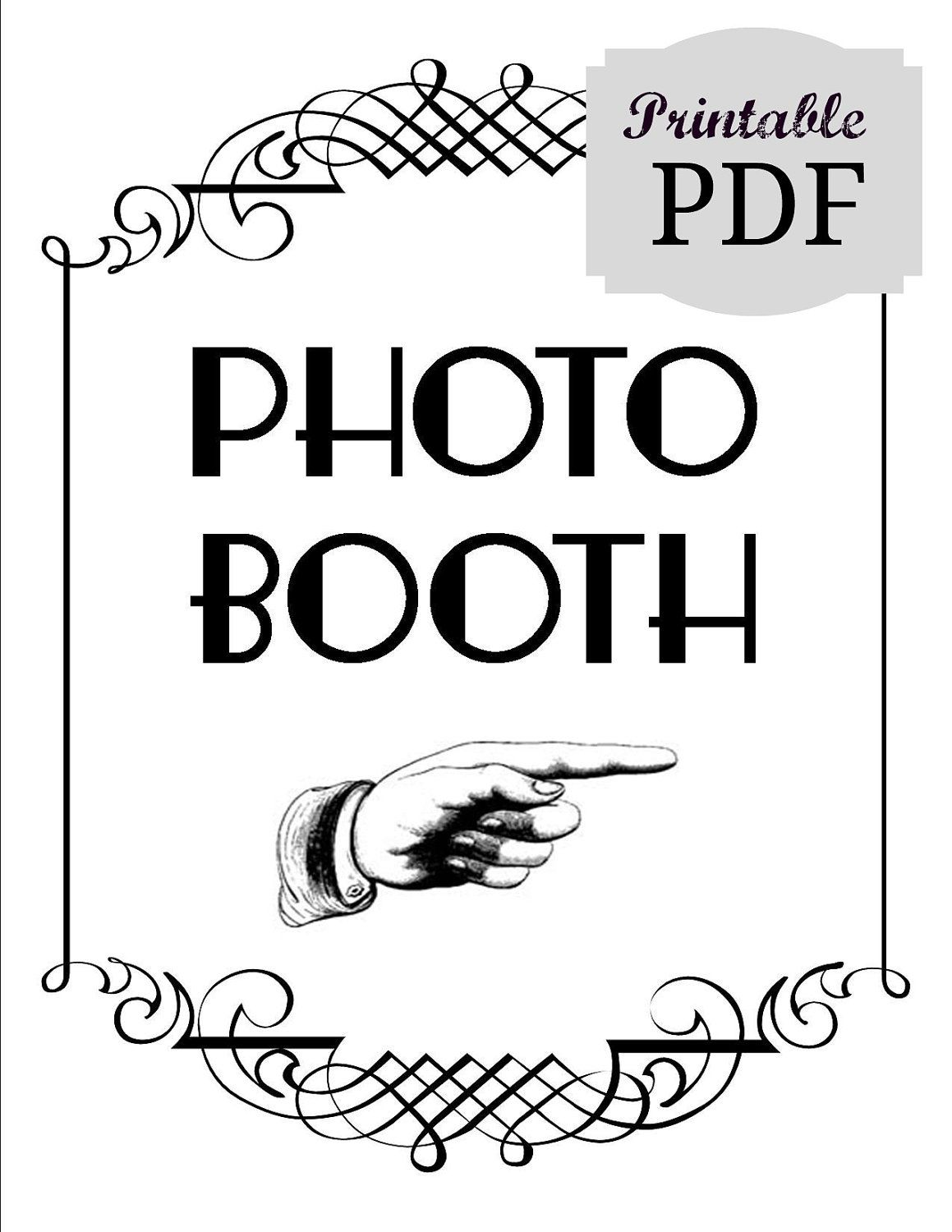 picture relating to Photo Booth Sign Printable called Do it yourself Printable PDF Photograph Booth Indication. Image Booth Prop