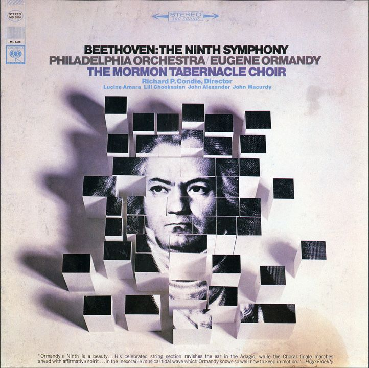 Artist: Eugene Ormandy/ Philadelphia Orchestra; Title: Beethoven's Ninth Symphony; Company: Columbia; Design: Unknown; Date: 1962