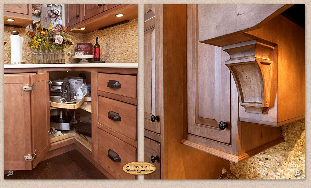 Discover Ideas About Corner Cabinets. Cabinets: A Showplace Lazy Susan  Corner Base ...