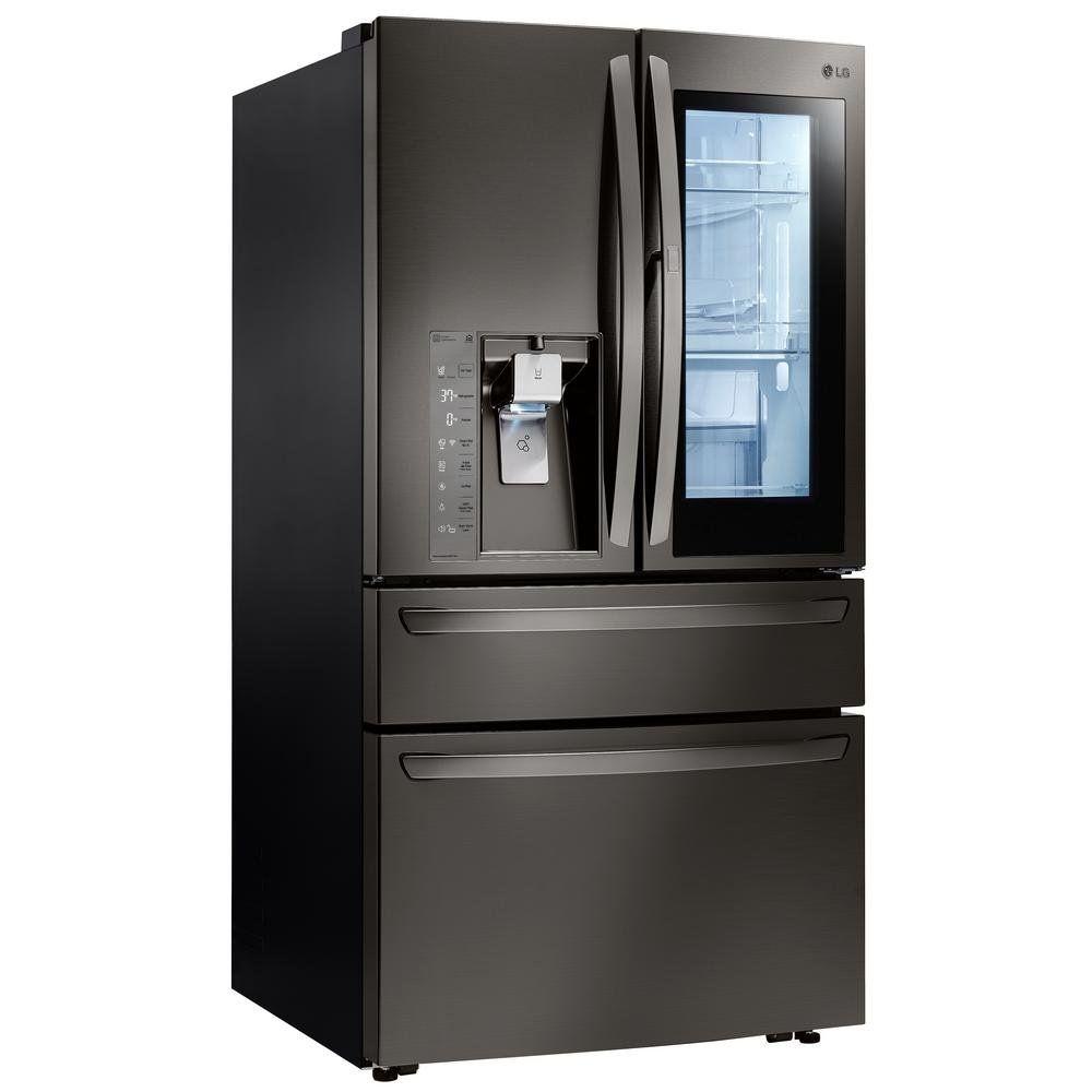 Lg Refrigerator Lfcc22426s 15 5 Cu Ft Counter Depth French Door With Ice Maker Sta French Door Refrigerator Stainless Steel Counters Counter Depth French Door