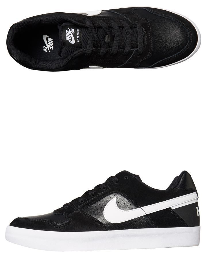 e0fff43d7ec0 Nike Sb Delta Force Vulc Shoe Black White Shoes Size 10
