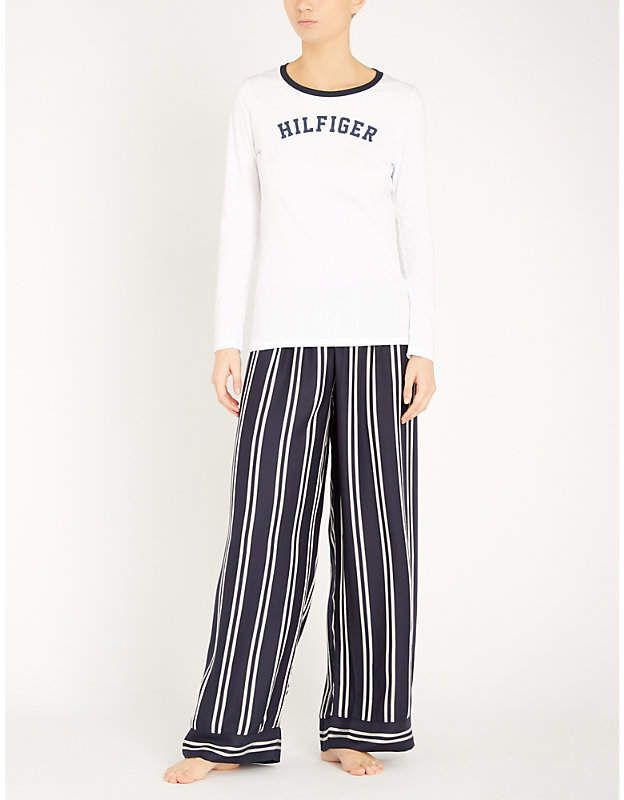 87aac2c004529 Tommy Hilfiger Relaxed-fit striped woven pyjama bottoms #Relaxed#fit#Tommy