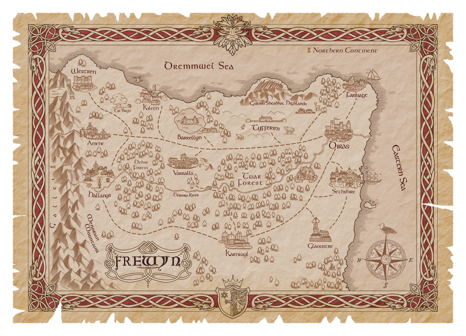 The Haanta Series Classic Fantasy And Sword And Sorcery Art Showcase The Map Of Frewyn Map Art Fantasy Map Map