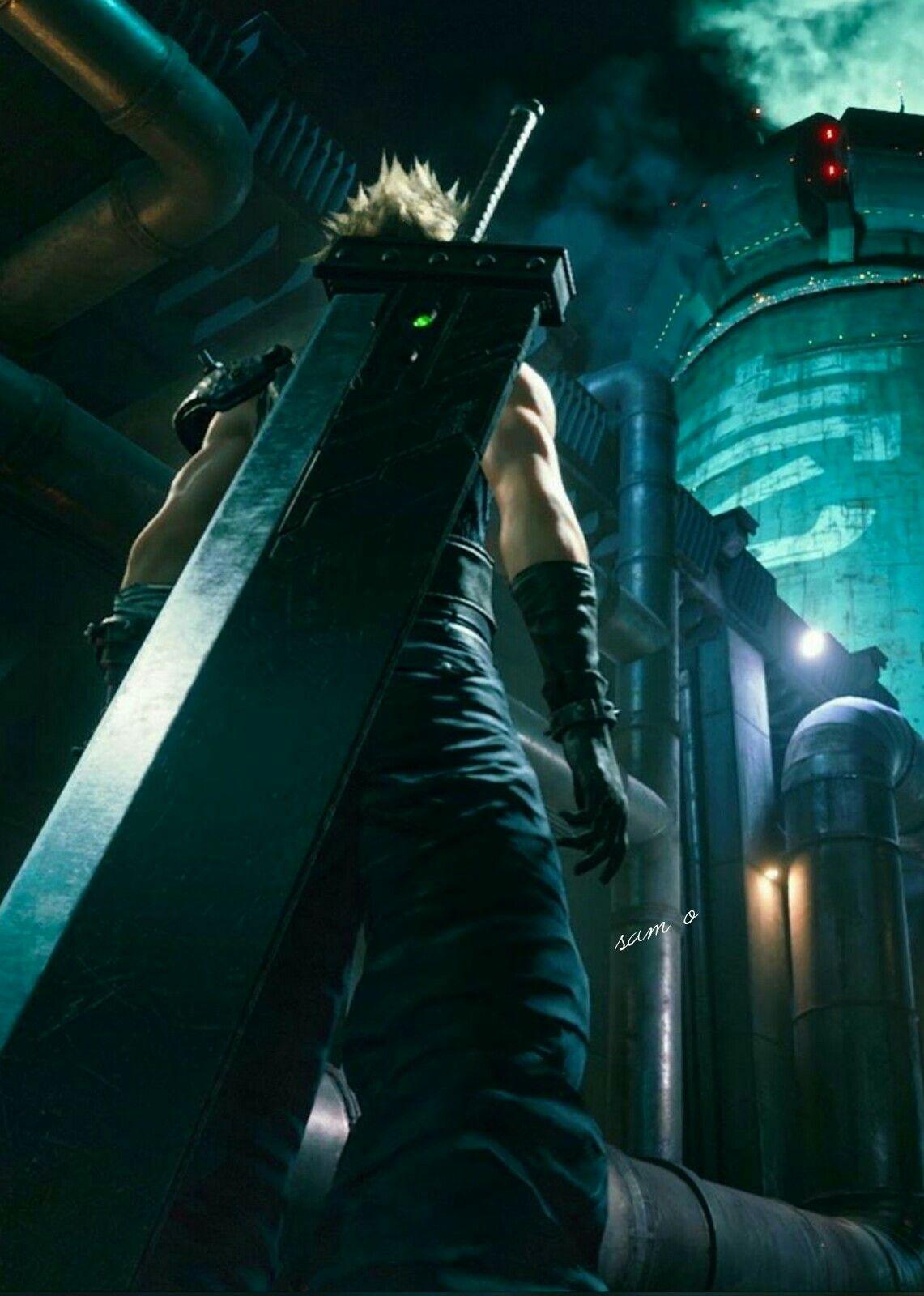 Cloud Striffe In Ffvii Remake Final Fantasy Vii Final Fantasy Xv Wallpapers Final Fantasy Art