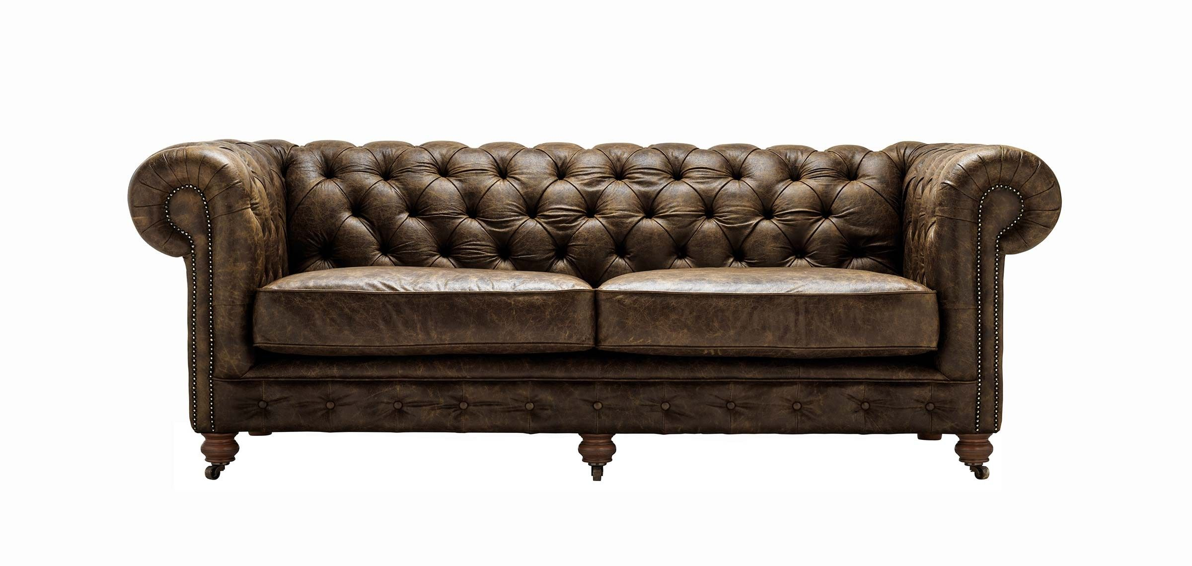 A pair of Victorian mahogany Chesterfield sofas br late 19th