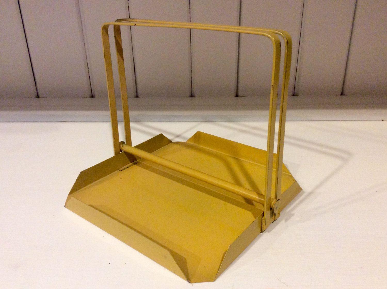Vintage Yellow Metal Napkin Holder, Retro Napkin Holder, Vintage ...