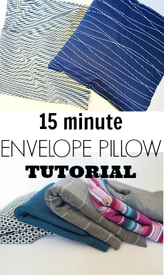 Easy 15 minute envelope pillow tutorial! great for experienced sewers and beginners! thecrazyorganizedblog. & Easy Envelope Pillow Case Step by Step Tutorial | Envelopes ... pillowsntoast.com