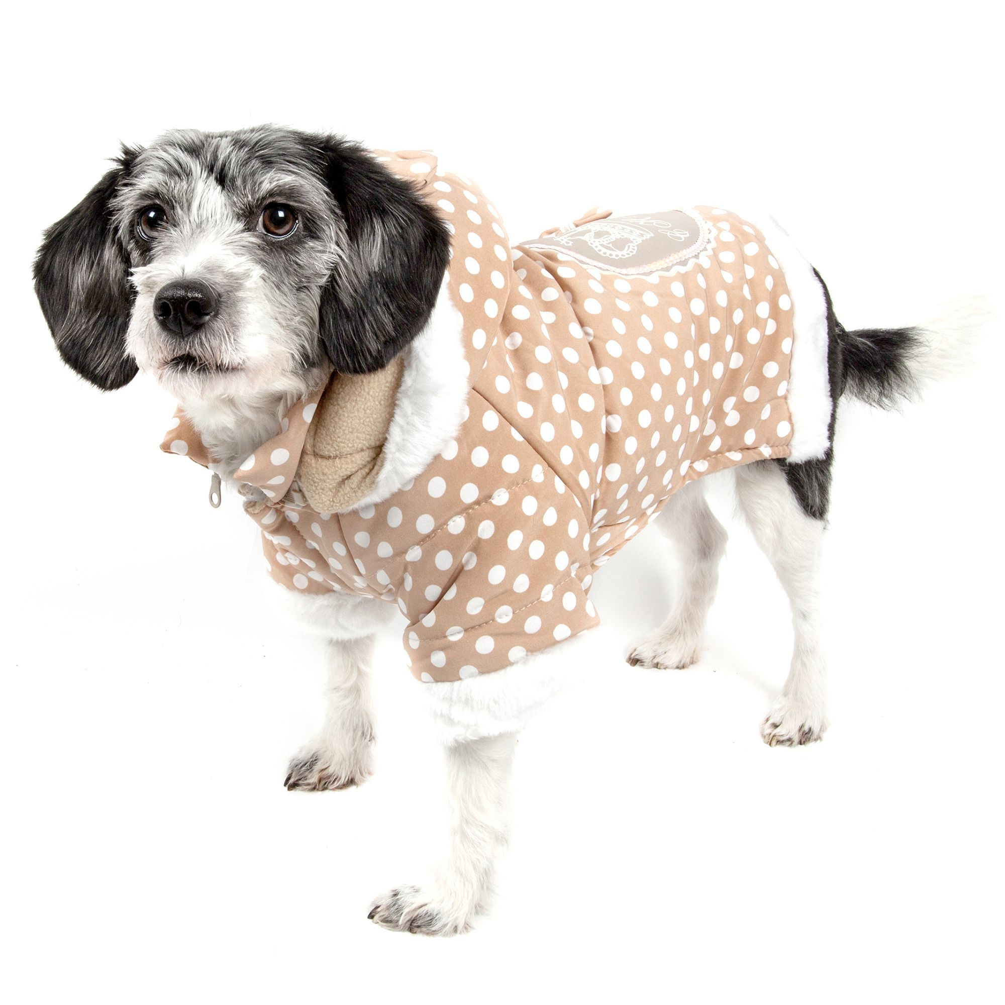 Pet Life Polka Dot Hooded Sweater size Small, Top Paw