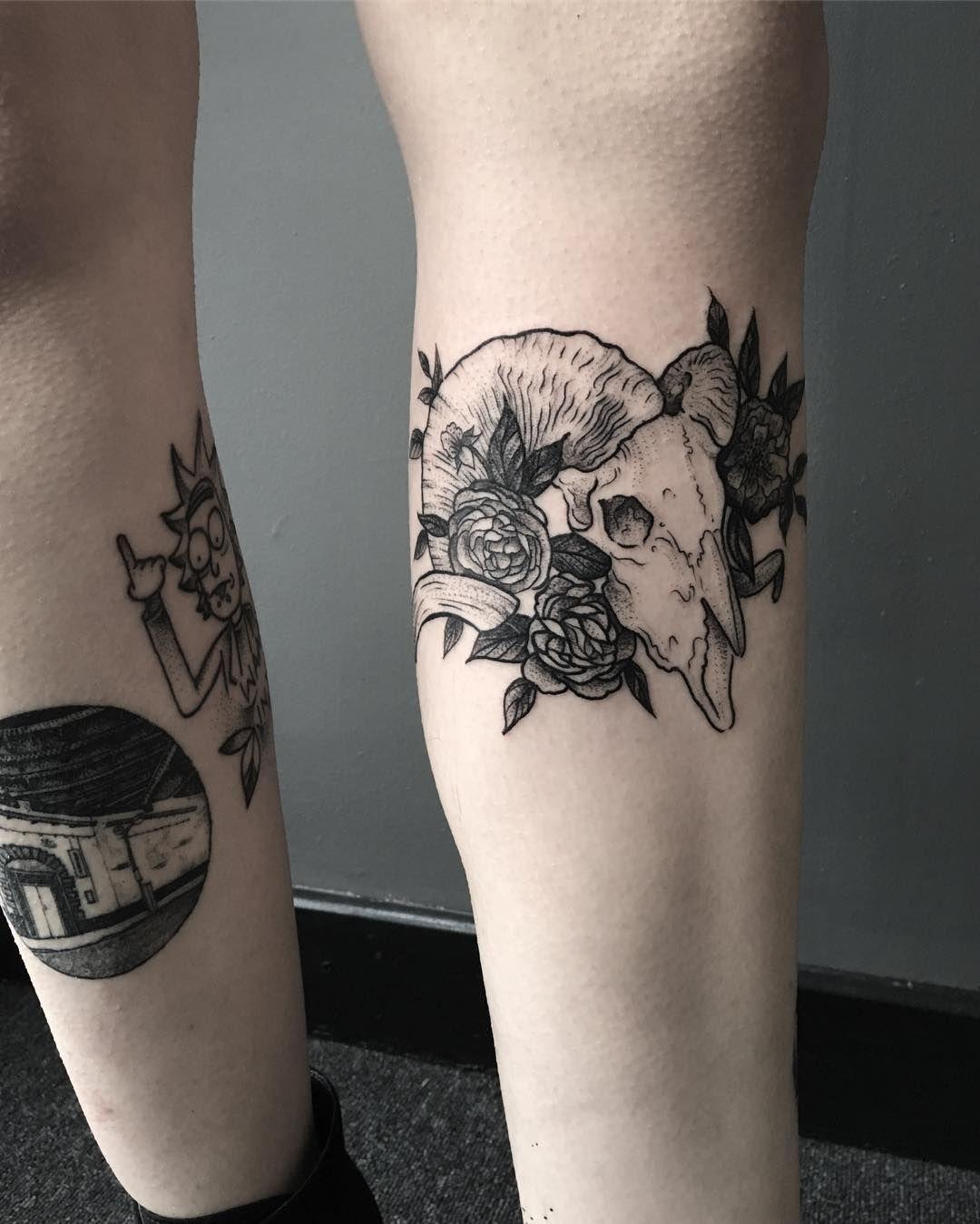 Ram skull for Adelaide | Animal Tattoo Designs | Pinterest ...