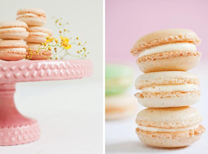 beautifully styled macarons