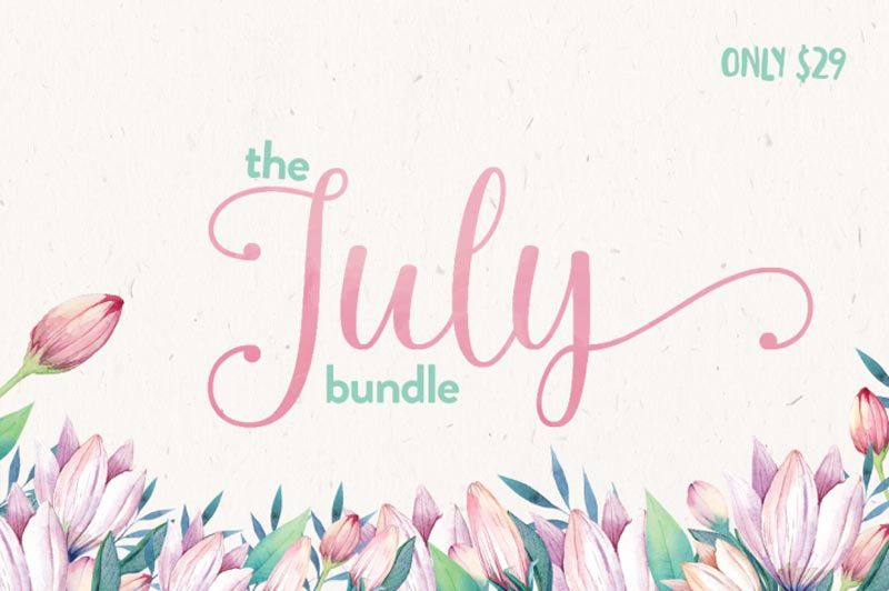 The July font bundle by The Hungry Jpeg