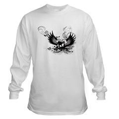 Skull with wings, Our Long Sleeve T-Shirt adds an extra element of style for a casual night out, or to keep the chill off. Made of 100% ringspun cotton for maximum comfort, this classic long sleeve tee is a wardrobe favorite.