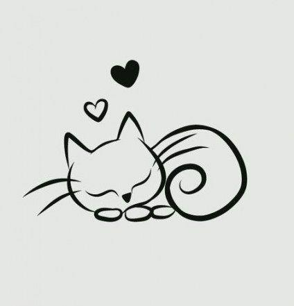 New Tattoo Cat Drawing Animals Ideas Cat Tattoo Creative Tattoos Drawings