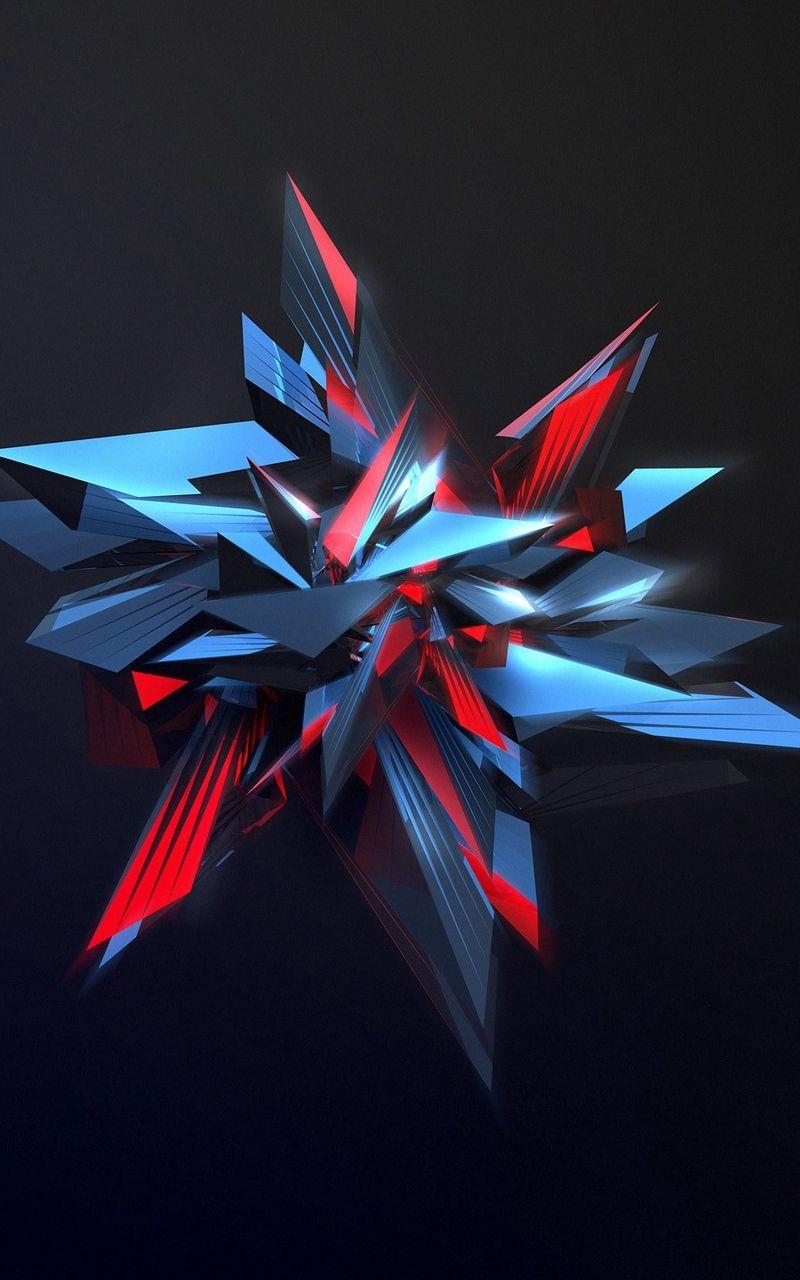 Wallpaper Sharp Figure Abstraction 3d Wallpaper For Mobile Crystal Iphone Wallpaper Graffiti Wallpaper