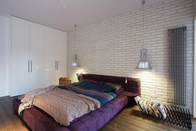 Biała Cegła Sypialnia Obraz Szukaj W Google Mieszkanie