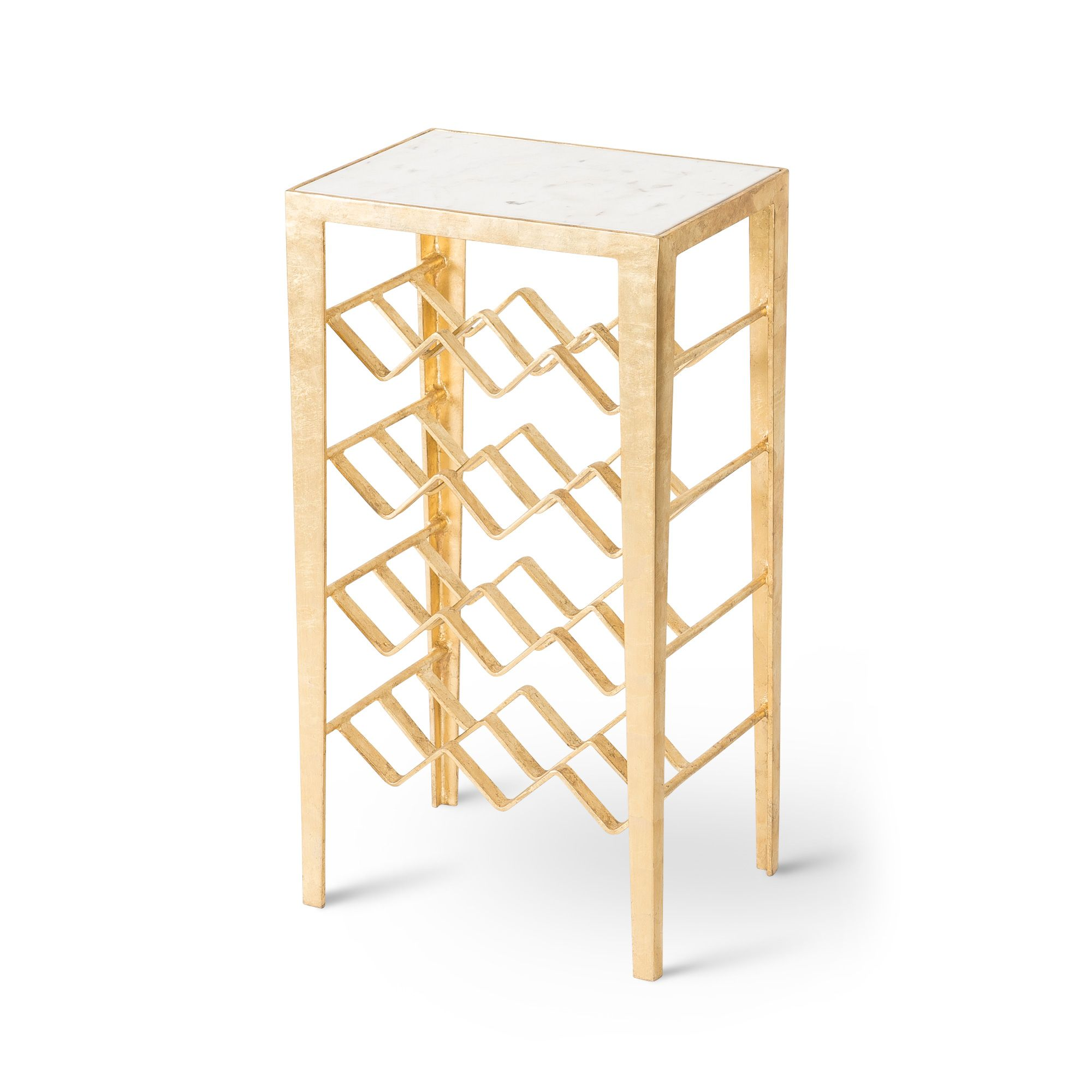 Buy the Gold Luxe Wine Rack Table at Oliver Bonas. We deliver ...