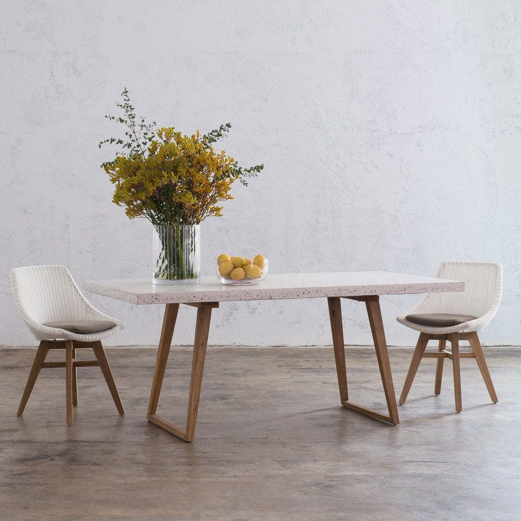 Concrete Dining Table Modern Scandi Design Organic Concrete Top Indoor Outdoor Table Dining Table Scandi Dining Room Concrete Dining Table