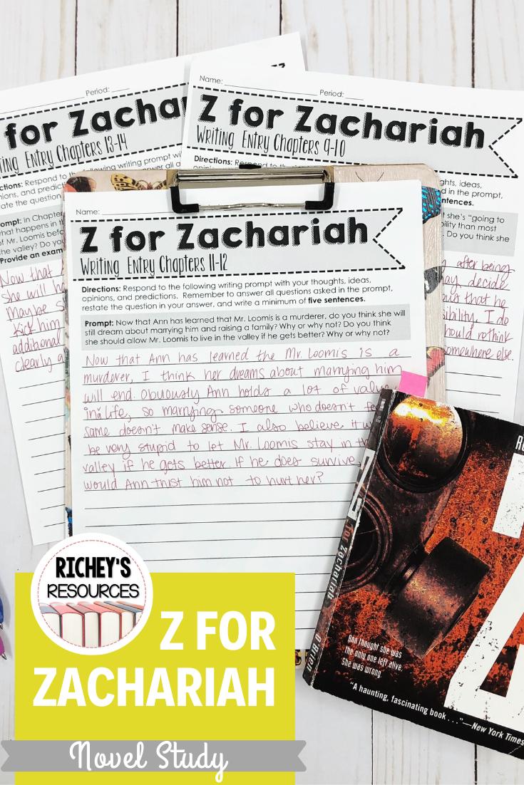 Z For Zachariah Novel Writing Prompt Studies Essay
