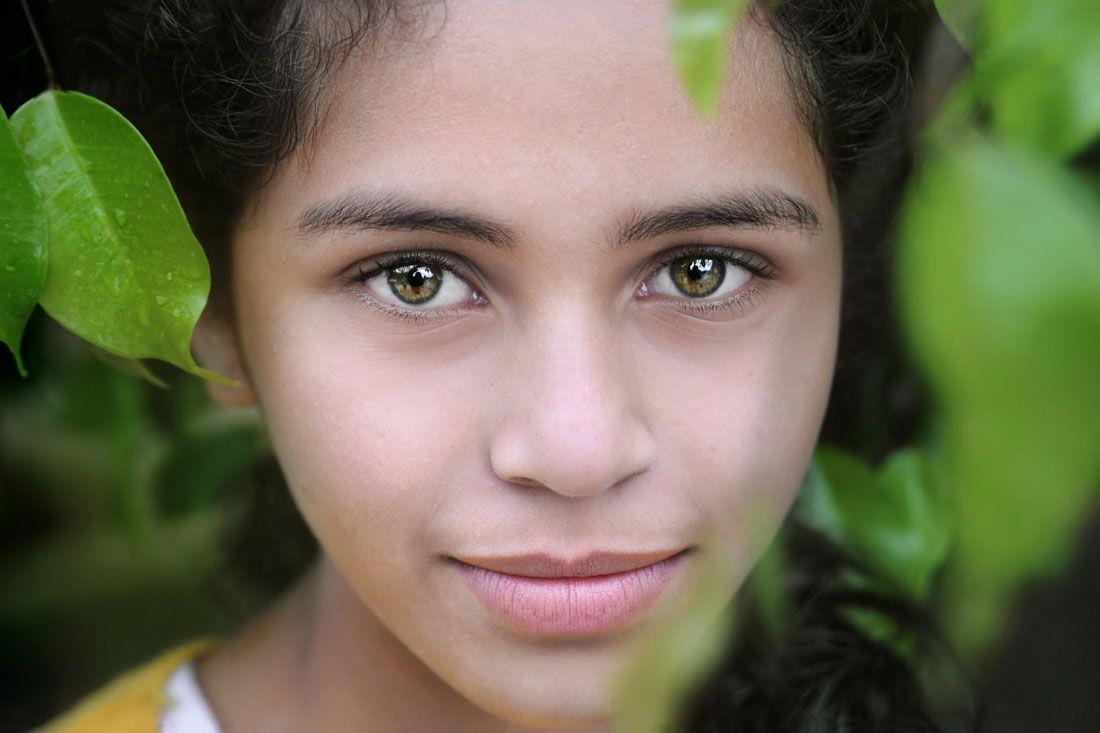 Guatemalan Girl With Green Eyes 2 David Lazar Green