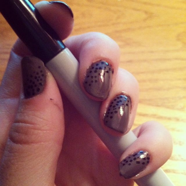 Using sharpie for dots on polish- success!