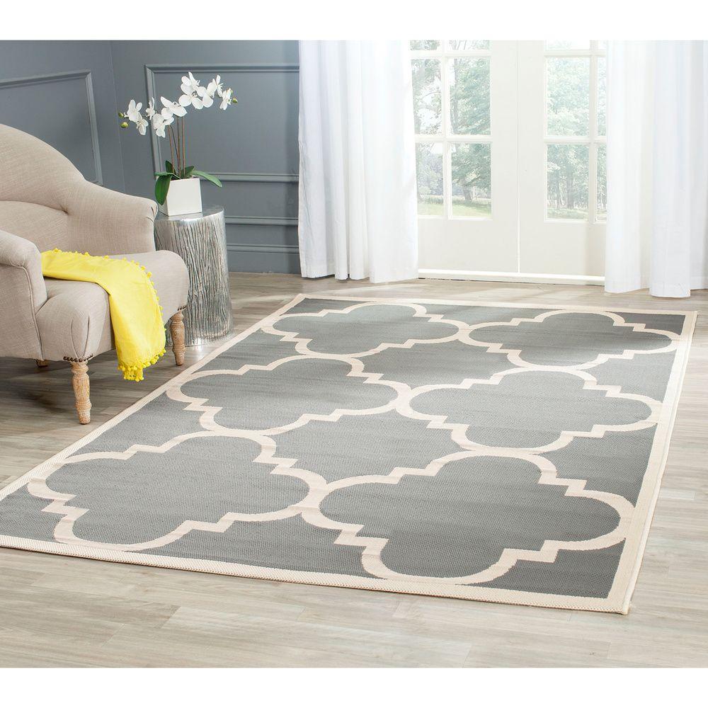 Safavieh Courtyard Grey/Beige Moroccan-Style Indoor-Outdoor Rug - Overstock™ Shopping - Great Deals on Safavieh 7x9 - 10x14 Rugs