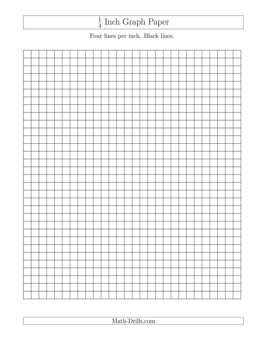 The 1 4 Inch Graph Paper With Black Lines A Math Worksheet From The Graph Papers Page At Math Drills C Graph Paper Printable Graph Paper Graph Paper Drawings