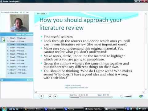 How to write a literature review Part 1 Grad School Tips - how to develop a research proposal