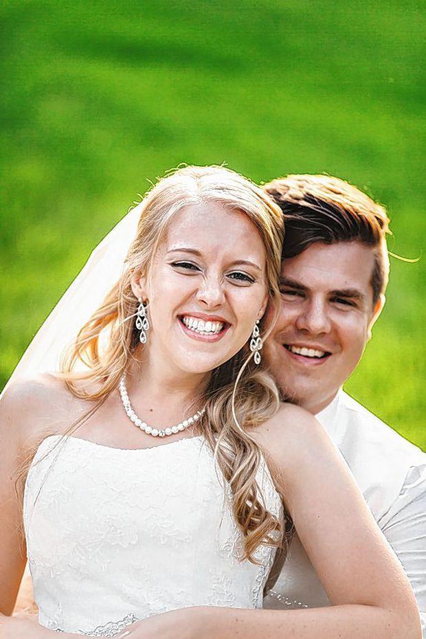 Newlyweds Katelyn and Michael