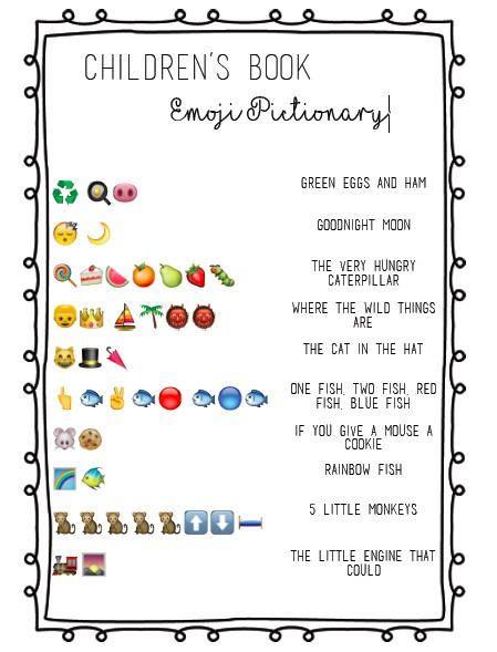 Children's Book Emoji Pictionary Baby Shower | Etsy | Book ...