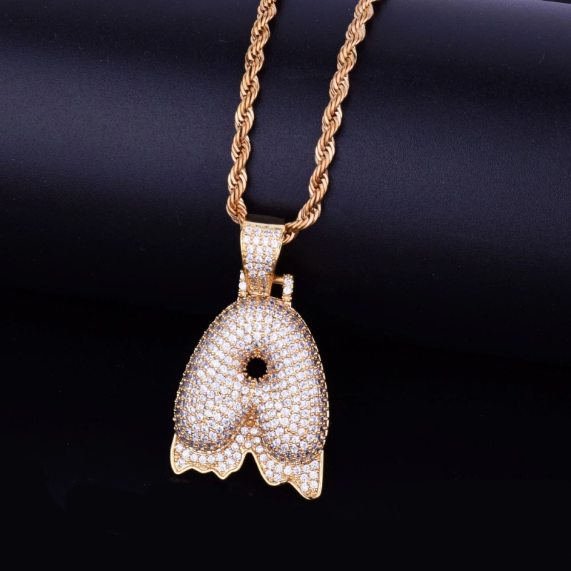 6260b100d Iced Out Dripping Letter Pendant in 2019   Pendants   Letter ...