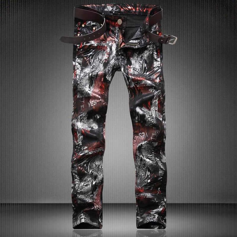 >> Click to Buy << Vintage Abstract Print Jeans Fashion European And American Style Casual Trousers D4195 #Affiliate
