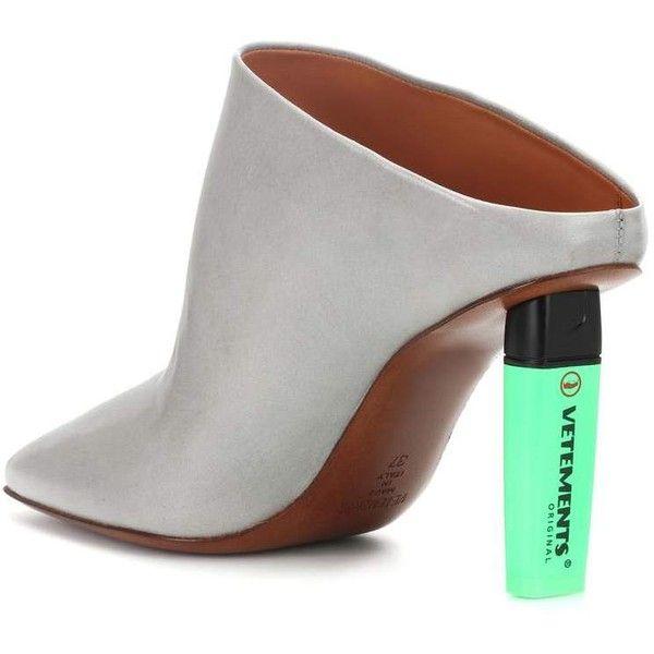 Highlighter-heel Leather Mules Vetements IJn2PUQz