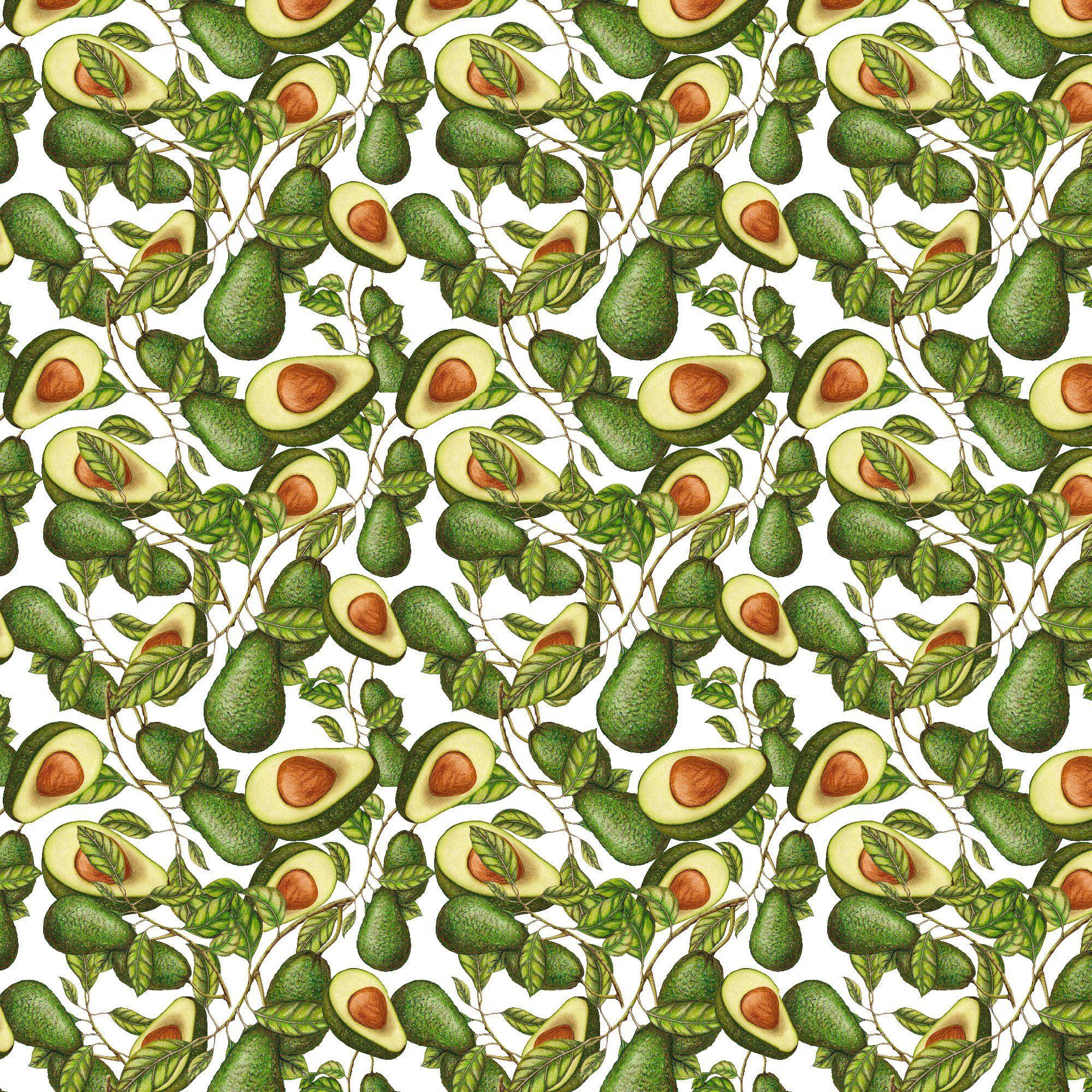 Avocado Wallpaper Fabric WallSkins. Peel. Stick. Remove
