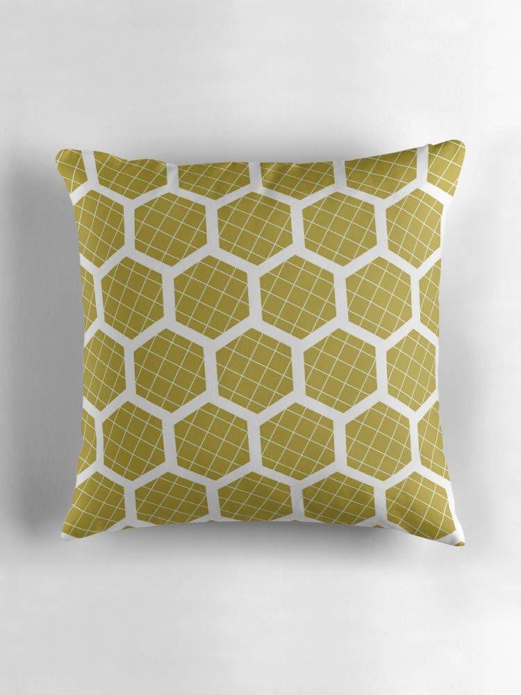 Yellow Cushions Home Decor Hexagon Cushion Geometric Pillows