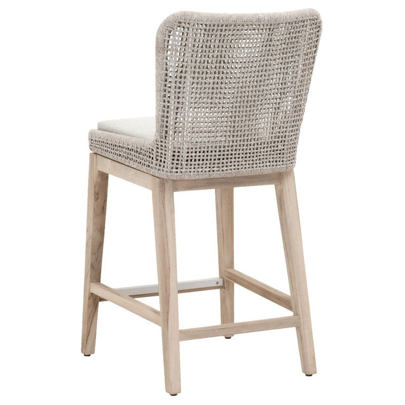 Cecil 26 5 Teak Bar Stool With Cushion Counter Stools Living