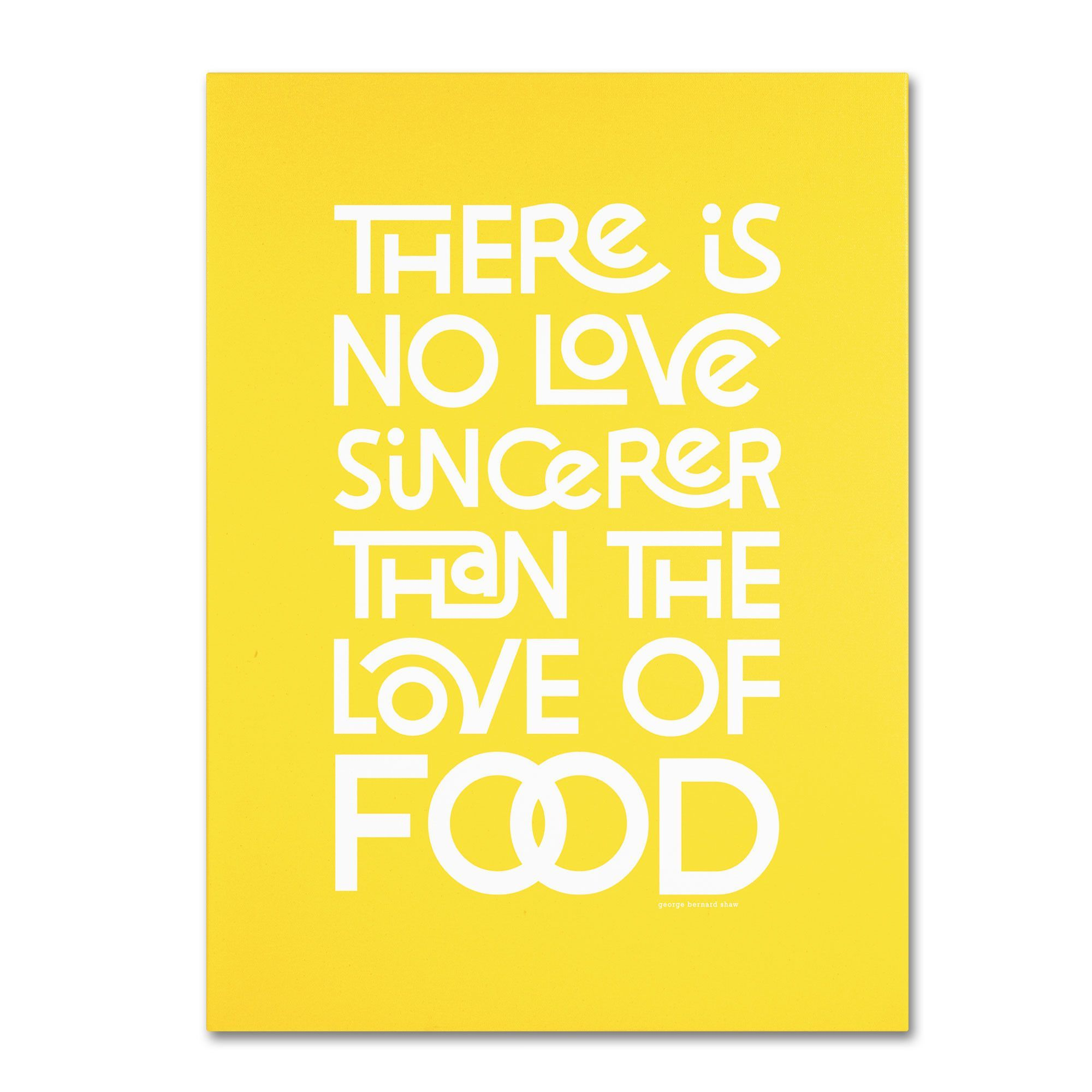 Sincere Love of Food V by Megan Romo Textual Art on Wrapped Canvas ...