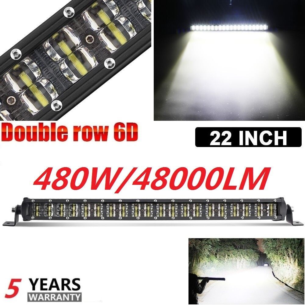 22inch Led Straight Slim Single Row Off Atv Road Light Bar Work Lamp V 22 24 Colight Bar Lighting Led Light Bars Led Work Light