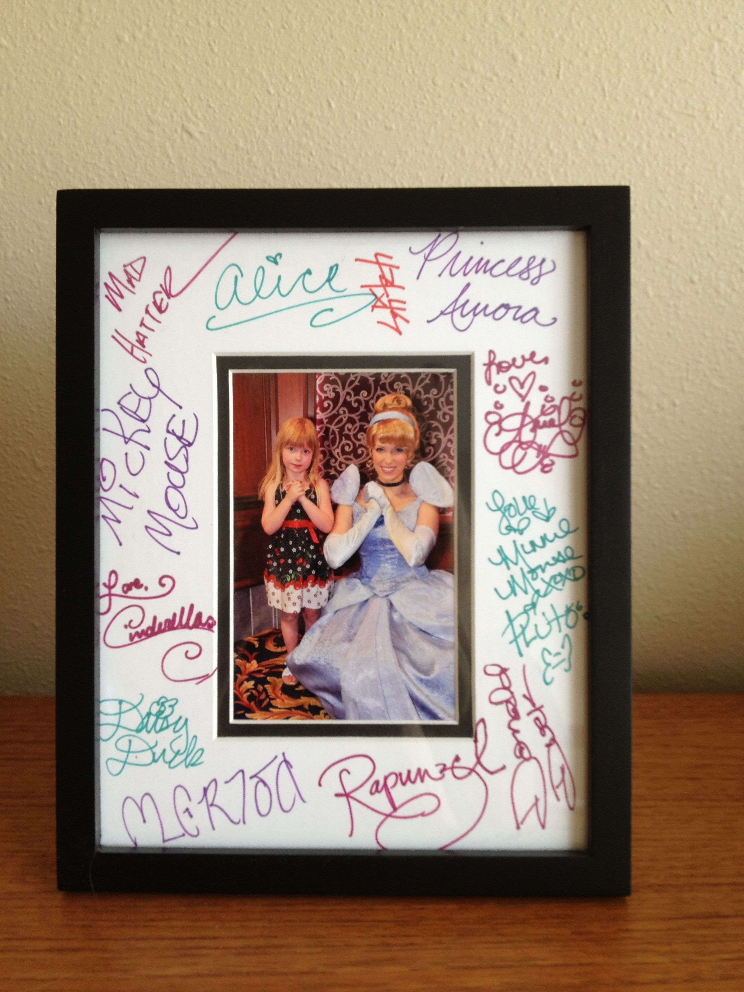 Disney Character Autograph Frame Where Dreams Come True