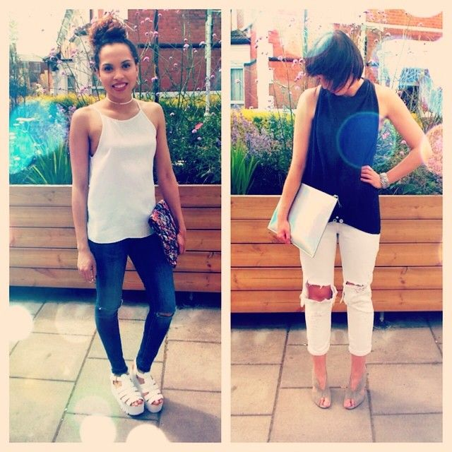 Ripped Jeans http://remotelyfashion.blogspot.co.uk/2014/07/how-we-wear-ripped-jeans-fancy-pants.html#more