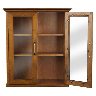 Elegant Home Fashions Avery Wall Cabinet - Oil Oak