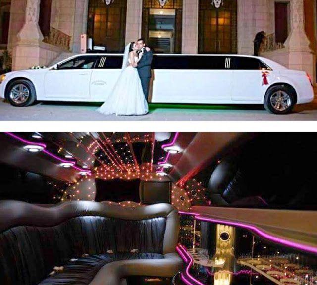 ليموزين Limousine طويل 9و12متر للايجار وتاجير بالسائق في مصر ليموزين عرايس استرتش روزرايز وكرايسلر وكادليك ولينكولن للافراح والزفاف Limousine Egypt Vehicles