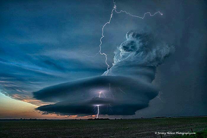 Supercell thunderstorm in Nebraska.