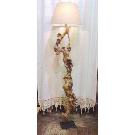 Lampada da terra in legno, driftwood lamp, radice di mare, legno e ...