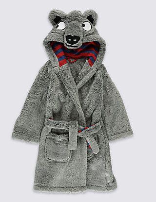Long Sleeve Bear Dressing Gown (1-8 Years) | M&S