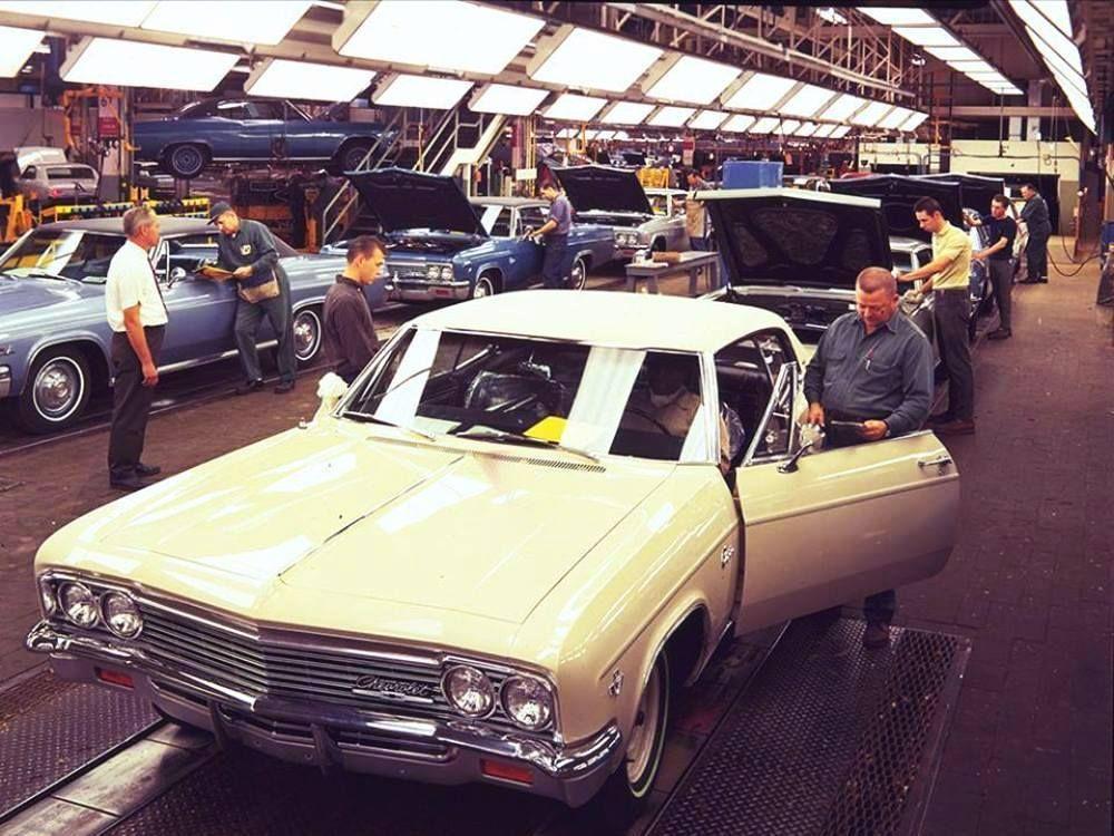 1966 Chevy Caprice Assembly Line Chevrolet Chevelle Malibu Car
