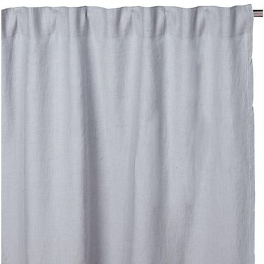 Zaslona Lniana Washed Linen Szara 140 X 280 Cm Na Tasmie Inspire Zaslony Gotowe W Atrakcyjnej Cenie W Sklepach Basic Shower Curtain Curtains Shower Curtain